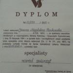 Dyplom specjalisty