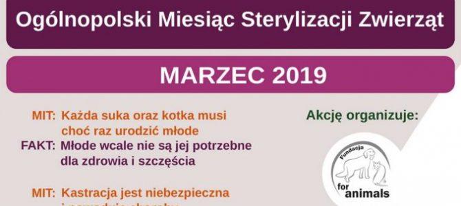 MARZEC 2019- AKCJA STERYLIZACJI I KASTRACJI PSÓW ORAZ KOTÓW